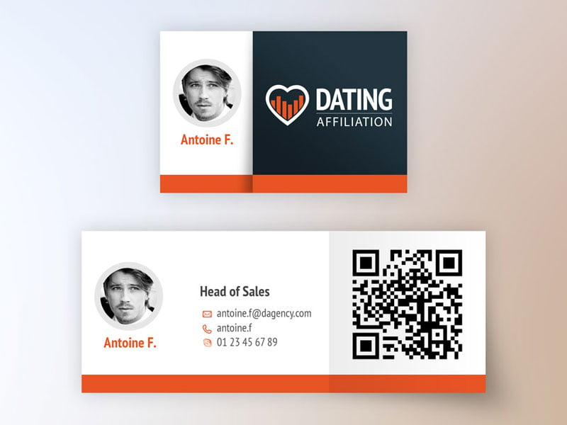 Logo, graphisme, carte visite Dating affiliation