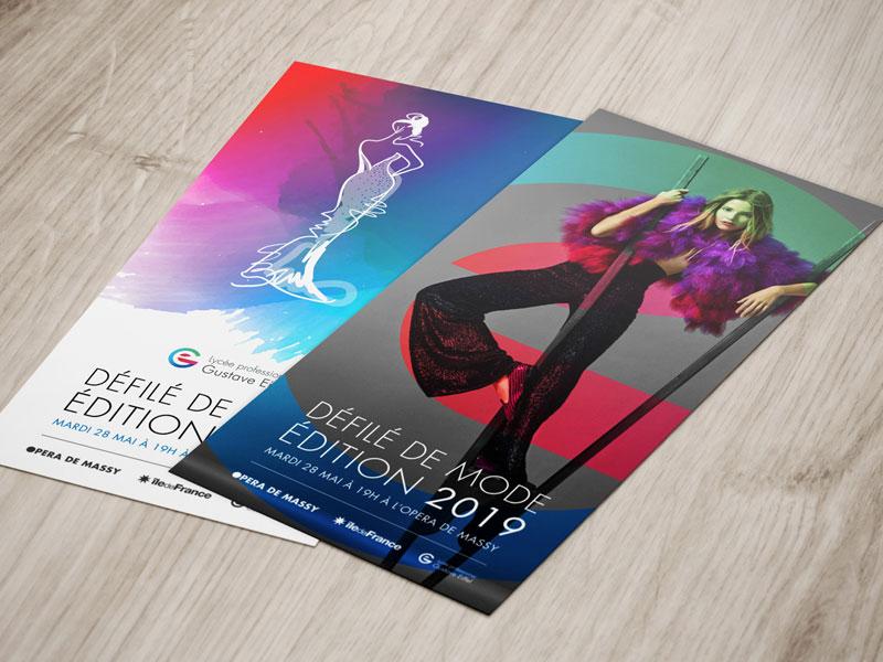 Création d'invitation au Défilé de Mode Opera de Massy
