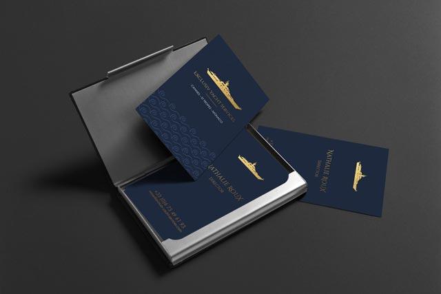Exclusiv yacht services carte de visite