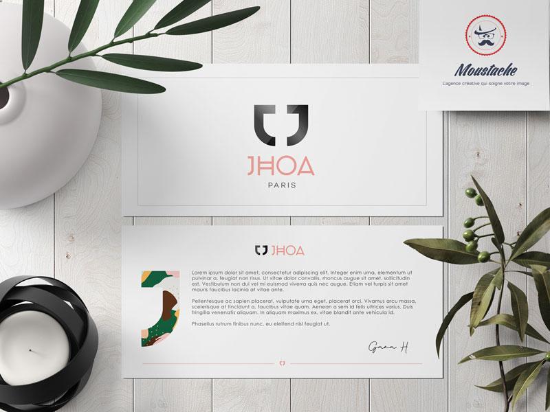 Jhoa by gana - logo et identité visuelle