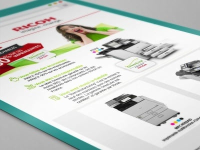 Ricoh : Campagne Web Marketing pour la gamme Green Line des imprimante Ricoh