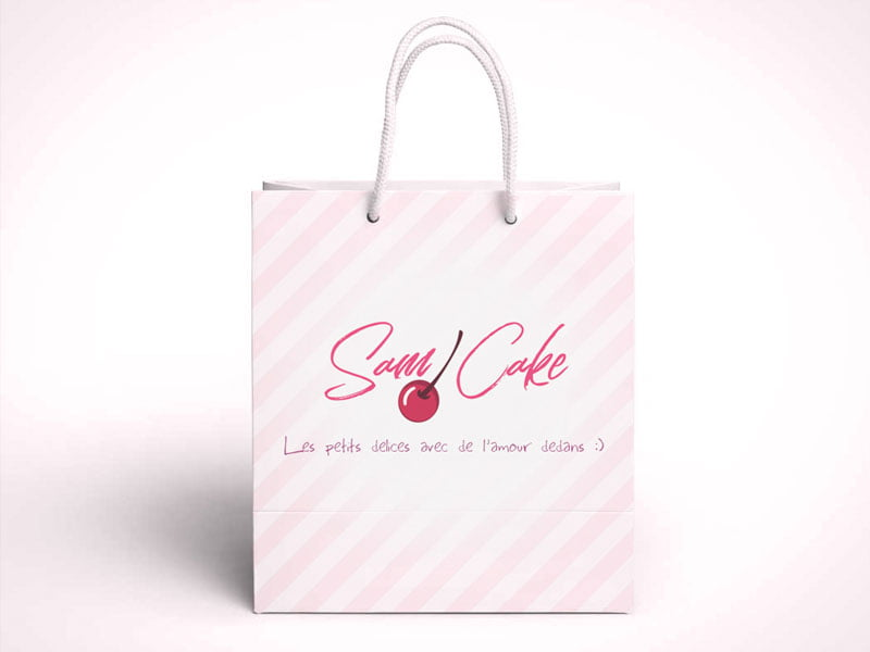 Packaging et marketing Sam Cake