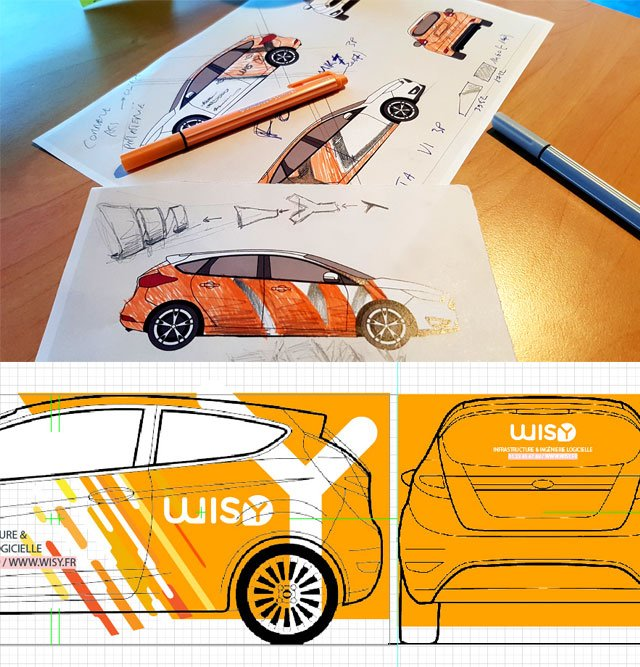 Creation graphique de l'habillage de voitures wisy